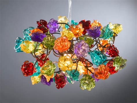 colorful light fixtures ceiling light fixture rainbow color roses by flowers in