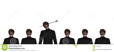 employee training in arrows stock standing out employee got arrow stock illustration image