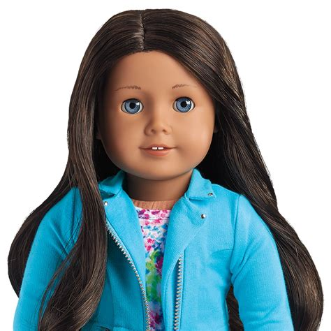 American Hair Style Books For Sale by New American Myag 18 Quot Doll Gt49 Brown Black Hair Blue