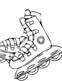 roller skate coloring page rollerblades coloring page handipoints