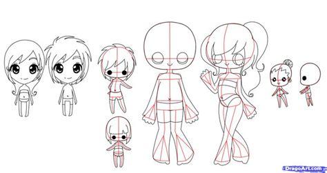 tutorial menggambar chibi anime how to draw chibi bodies step by step chibis draw chibi