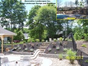 sloped back yard landscaping ideas car interior design