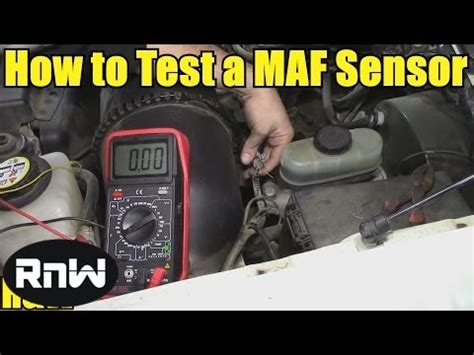 bad mass air flow sensor no check engine light how to test a mass air flow maf sensor without a