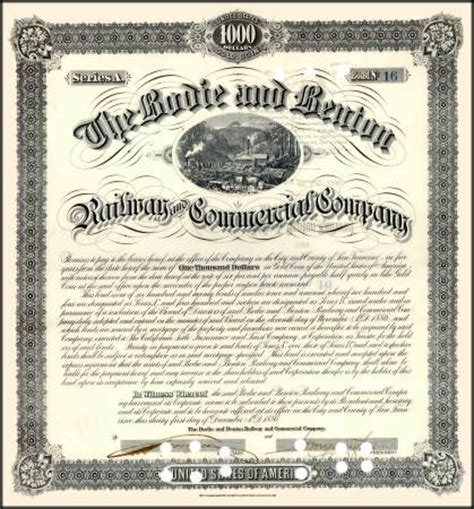 novelty stocks stock certificates and bond certificates
