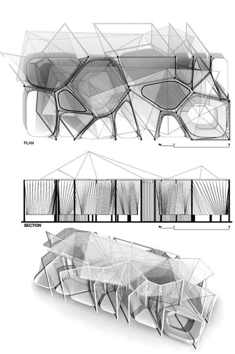 pavillon zeichnen voronoi is a temporary pavilion for relaxation in the