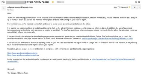 adsense mail adsense account disabled my story how i got it back