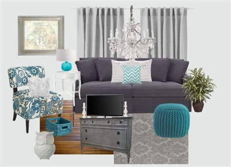 Grey And Turquoise Living Room Quot Gray And Teal Living Room Quot By Jurzychic On Polyvore I M