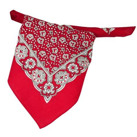 Patterned Neckerchief white black paisley patterned bandana neckerchief