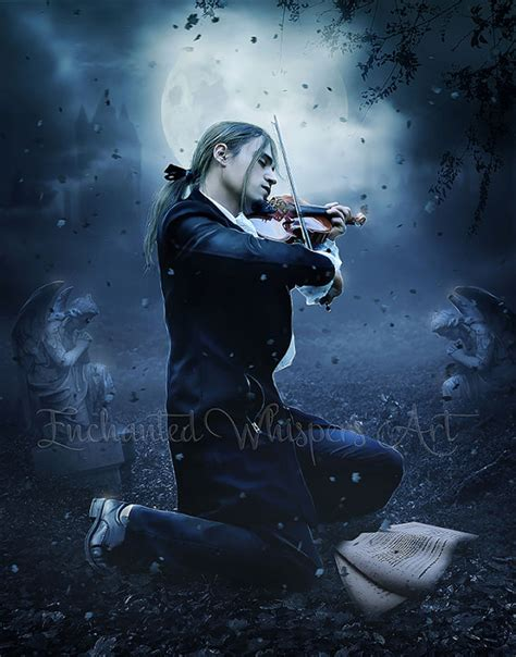 gothic man artwork man with violin gothic by