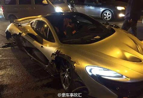 p1 crash mclaren p1 crashes in china