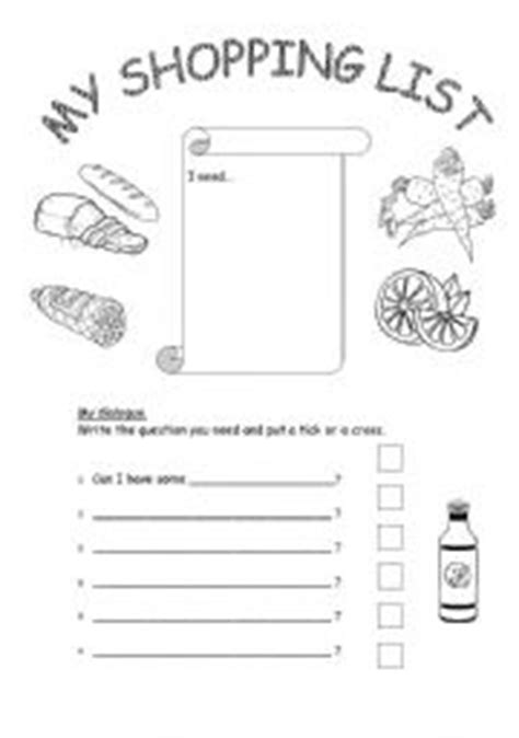printable shopping list kindergarten english worksheets shopping list can i have
