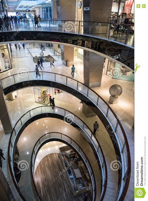 westfield bondi junction floor plan spiral floor plan in modern shopping centre editorial