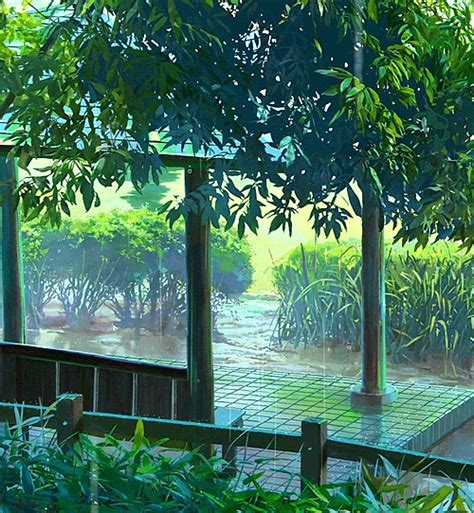 anime myedit anime scenery kotonoha no niwa garden of