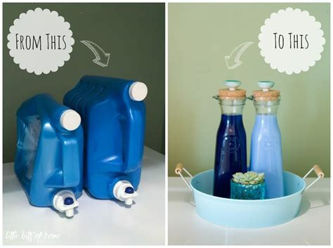 The Nest Home Decor create with me glass laundry detergent dispensers