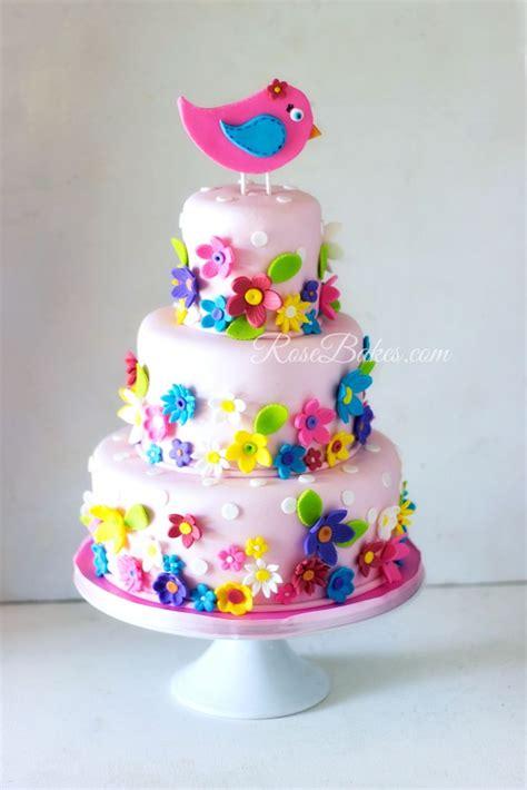 Springowers St  Ee  Birthday Ee    Ee  Cake Ee   Rose Bakes Pins