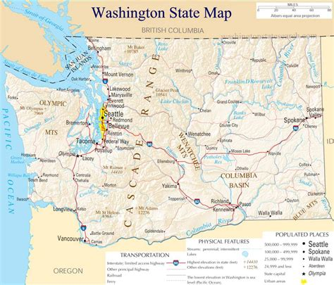 washing state map washington state map a large detailed map of washington