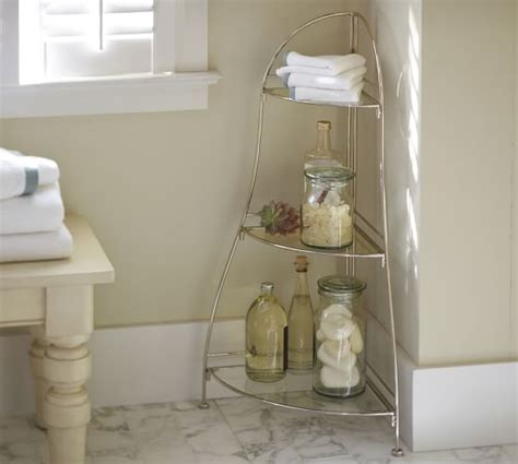 corner glass shelf pottery barn