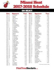 printable miami heat schedule 2017 2018