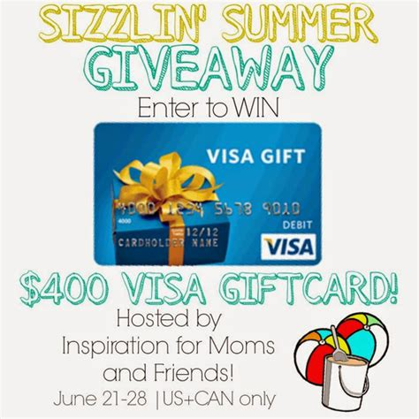 400 Visa Gift Card - welcome to summer 400 visa gift card giveaway a little claireification