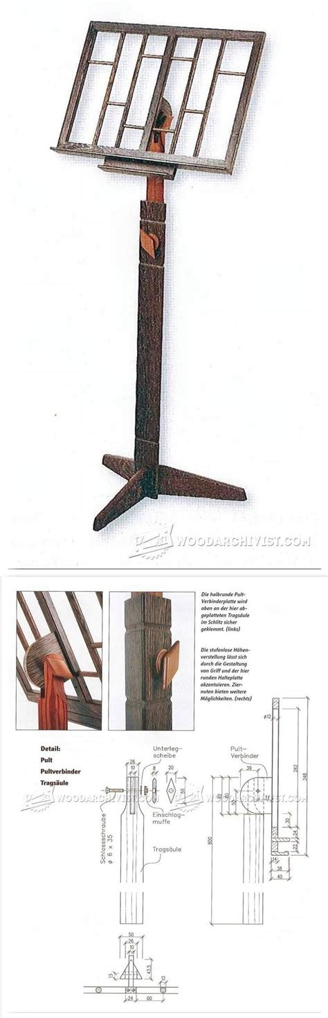 wooden  stand plans rustic woodworking plans