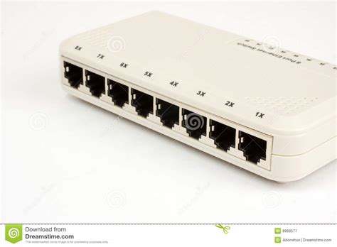 Small Home Network Switch Networking Switch Royalty Free Stock Photography Image