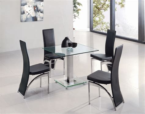 JET SQUARE GLASS DINING TABLE, Dining Table and Chairs, Dining Tables