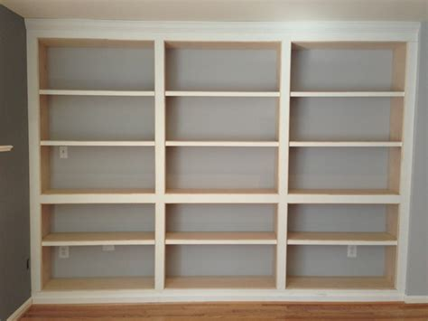 In Wall Shelves Built In Bookshelves