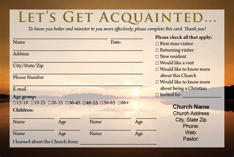 church visitor card template generator free church visitor letter just b cause