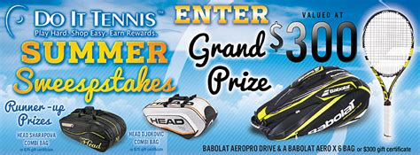 Tennis Sweepstakes - do it tennis summer sweepstakes