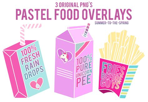 imagenes de tumblr overlays png pastel food overlays by summer to the spring on deviantart