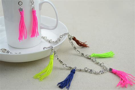 personalized mothers day jewelry colorful tassel necklace