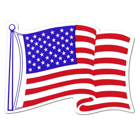 flag clipart american car flag magnet