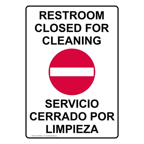 bathroom closed sign restroom closed for cleaning sign nhb 8620 restrooms