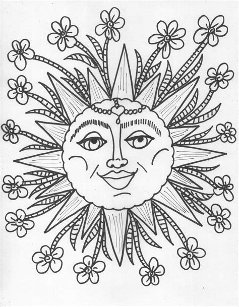 sun and flowers coloring book for adults featuring beautiful and creative floral designs for stress relieve and sweet relaxation books coloring book pages design your own coloring book moon