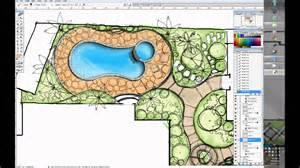 House Plans Software one minute villa garden design wacom cintiq 24dh youtube