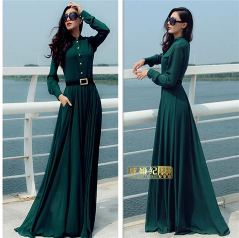Tendencies Dress Deyhan Sheer Sleeves green sleeve sweep chiffon maxi dress wrap sheer gown cruise in dresses from