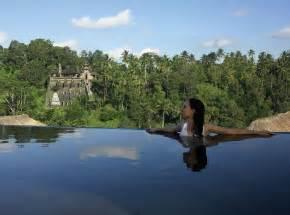 hanging gardens ubud hotel bali swimming pool from the