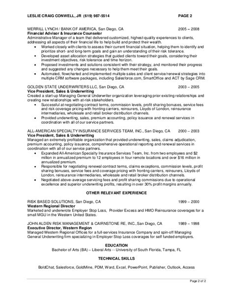 merrill lynch business plan template craig conwell resume 2013