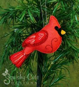 felt cardinal ornament pattern cardinals felting and