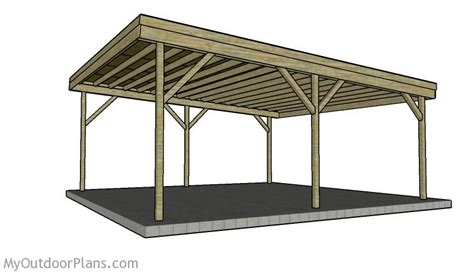 carports plans building a double carport plans how to build a carport