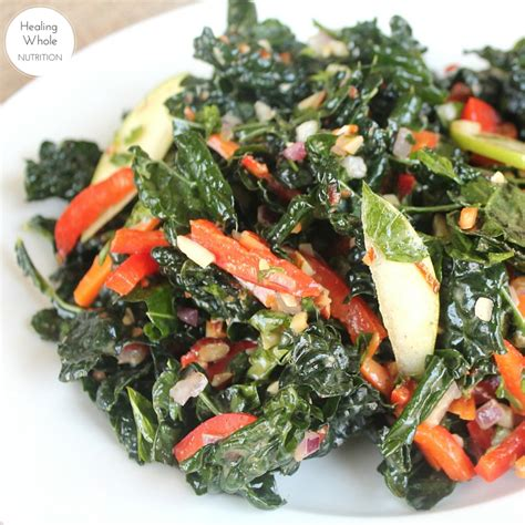 Kale Apple Green Detox Salad by Kale Detox Salad Healing Whole Nutrition