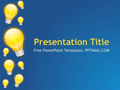 free light bulbs powerpoint template pptmag