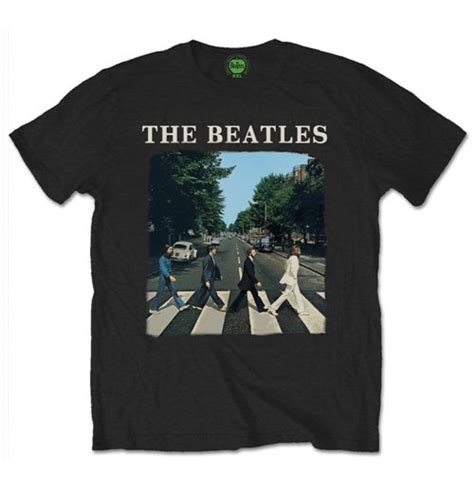 The Beatles Black Logo the beatles t shirt road with logo black for only