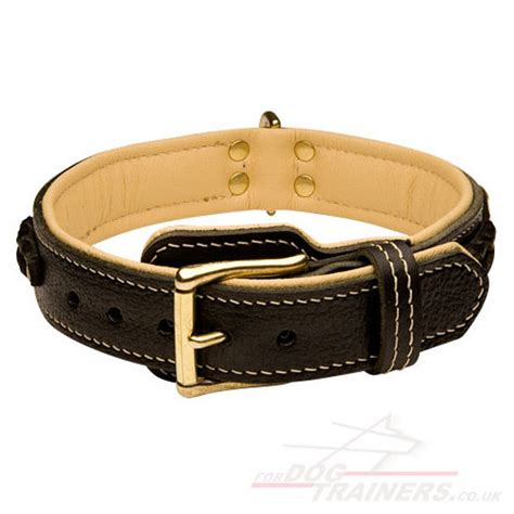 handmade leather collars for boxer luxury
