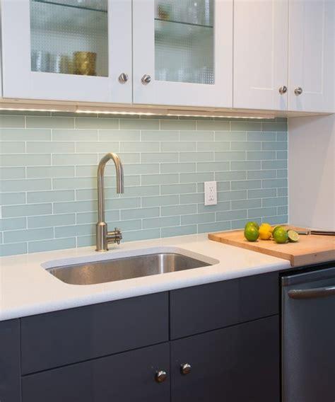 Light Blue Kitchen Tiles Light And Modern In Downtown Modern Kitchen By Ott Design
