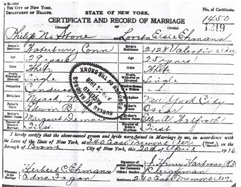 New York City Marriage Records 1800s 88 Las Vegas Wedding License Records Clark County