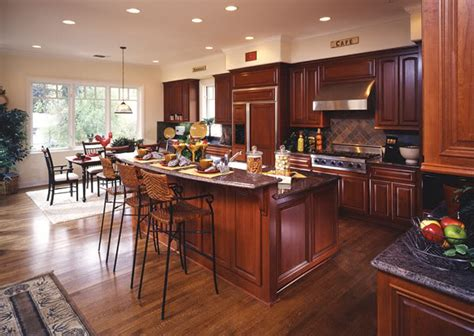 wood kitchen cabinets with wood floors hardwood floors in kitchens pictures cherry cabinets