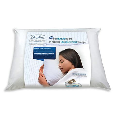 mediflow 174 gel memory foam waterbase 174 pillow bed bath