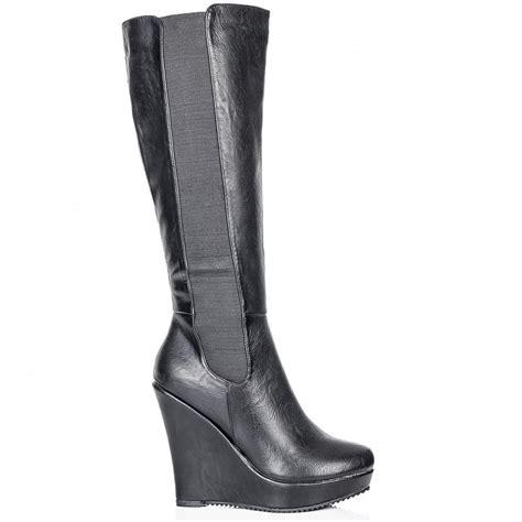 black high heel wedge boots black wedge sandals black wedge heel knee high boots