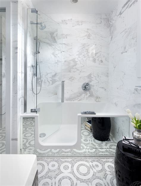 Bathroom Shower Tub Combo Bathroom Walk In Bathtub Shower Combo Ideas With Contemporary Bath Shower Combo For Small Spaces